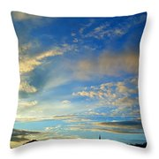 Wilkes Barre Sunset Two Throw Pillow