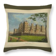Wilkinson, Robert  58 Cornhill Windsor Castle Published 7 Aug 1813 Throw Pillow
