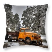 Will Plow For Snow Throw Pillow