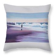 Will Rogers Beach Throw Pillow