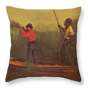 Will Schuster And A Black 1876 Throw Pillow