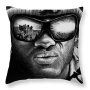 Will Smith As Hancock Throw Pillow
