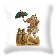 Will Work For Food Throw Pillow by ReInVintaged