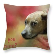 Will You Be Mine? Throw Pillow