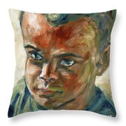 Willful Boy Throw Pillow