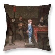 William Frederick Yeames - And When Did You Last See Your Father 1878 Throw Pillow