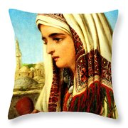 William Gale Arab Woman Throw Pillow