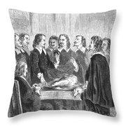 William Harvey Explaining Blood Throw Pillow