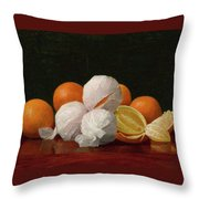 William J. Mccloskey 1859 - 1941 Untitled Wrapped Oranges Throw Pillow