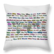 William Throw Pillow