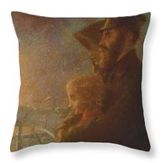 William J Webbe , The Shadow Of A Rock Throw Pillow