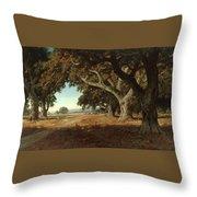 William Keith - California Ranch - 1908 Throw Pillow