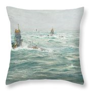 William Lionel Wyllie, Submarines In The Channel Throw Pillow