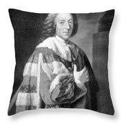 William Pitt, Prime Minister Of Britain Throw Pillow