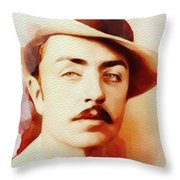 William Powell, Vintage Movie Star Throw Pillow