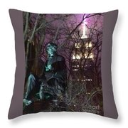 William Seward And Empire State Building 1 Throw Pillow