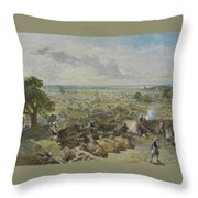 William Simpson, 1823-1899, Nilitary Camp Throw Pillow