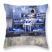 Williams Bmw Fw24 2002 Juan Pablo Montoya Throw Pillow