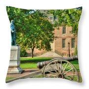 Williamsburg Cannon Throw Pillow
