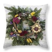 Williamsburg Wreath 10b Throw Pillow