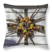 Williamsburg Wreath 23 Throw Pillow