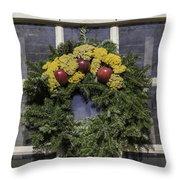 Williamsburg Wreath 25 Throw Pillow