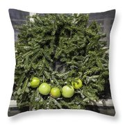 Williamsburg Wreath 27 Throw Pillow