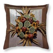 Williamsburg Wreath 35 Throw Pillow