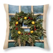 Williamsburg Wreath 37 Throw Pillow