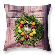 Williamsburg Wreath 53 Throw Pillow