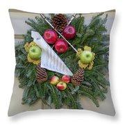 Williamsburg Wreath 87 Throw Pillow