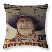 Willie For President Throw Pillow