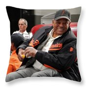 Willie Mays 2012 Throw Pillow