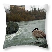 Willie Willey Rock - Riverfront Park - Spokane Throw Pillow