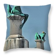 Willimantic Frogs Throw Pillow