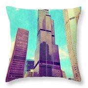 Willis Tower - Chicago Throw Pillow