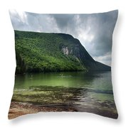 Willoughby Lake In Westmore Vermont Throw Pillow