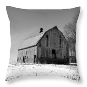 Willow Barn Bw Throw Pillow
