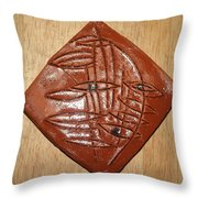 Willow Eye - Tile Throw Pillow