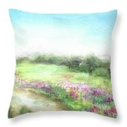 Willow-herb Throw Pillow