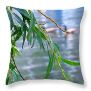 Willow Over The Water Throw Pillow