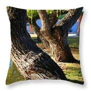 Willow Trees Throw Pillow