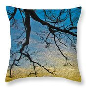 Willowbrush Throw Pillow