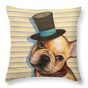 Willy In A Top Hat Throw Pillow
