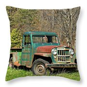 Willys Jeep Pickup Truck Throw Pillow