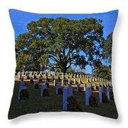 Wilmington National Cemetery Christmas Throw Pillow