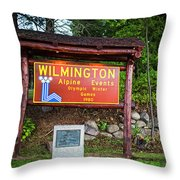 Wilmington Ny Alpine Events Olympic Winter Games 1980 Ski Lift Throw Pillow