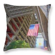 Wilson Hall At Fermilab - Interior Throw Pillow