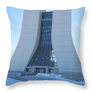 Wilson Hall At Fermilab Throw Pillow