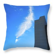 Wilson Hall At Fermilab With Cloud Throw Pillow